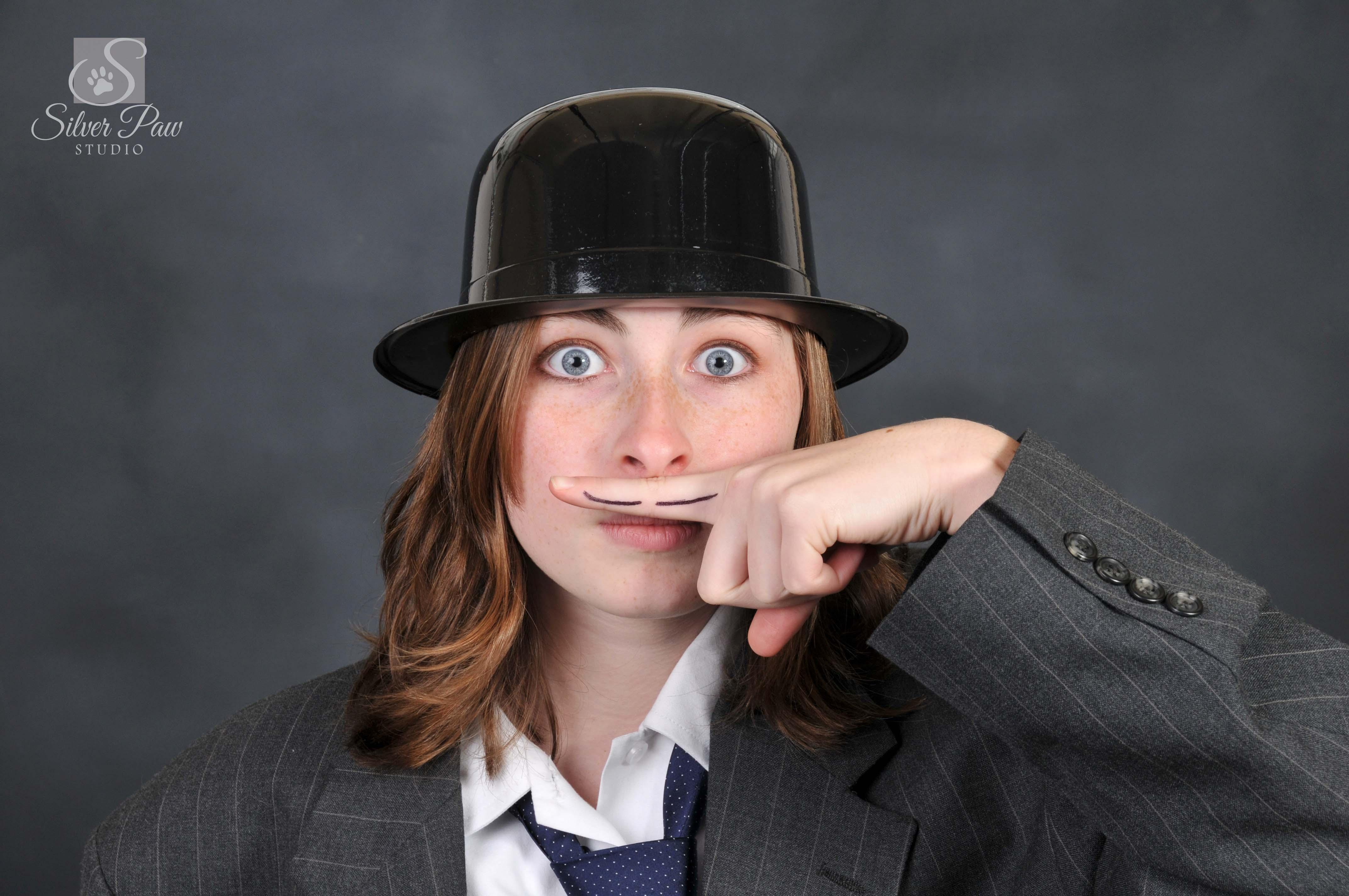 mustache top hat