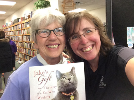 Author Pam Wolf with Monique Rodriguez