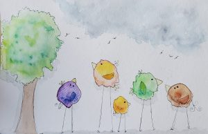 splat doodle birds